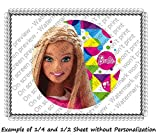 1/4 Sheet Barbie Sparkle Edible Image Cake Topper