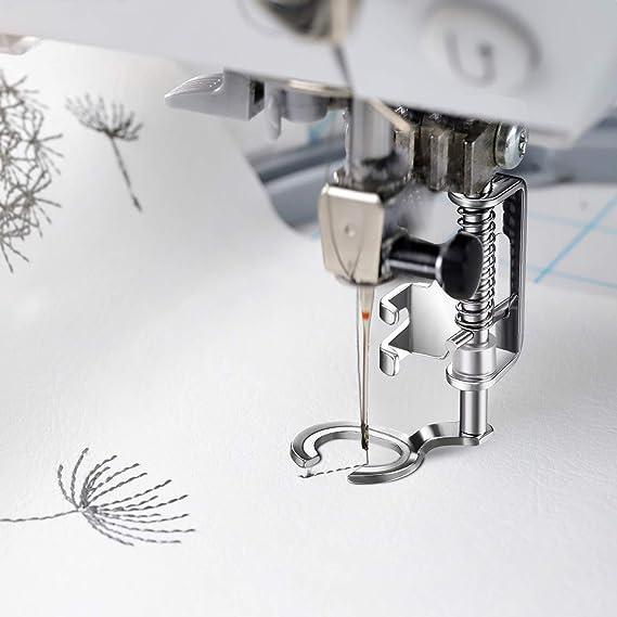 Toyota Janome Singer Open Toe f/ür Brother Quilting Embroidery-N/ähfu/ß TinkSky f/ür N/ähmaschine