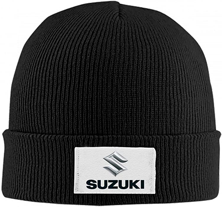 2e6d022f Amazon.com: Knit Hat Suzuki Emblem Beanie Hat Winter Warm Slouchy Skull Cap  for Womens Mens: Clothing