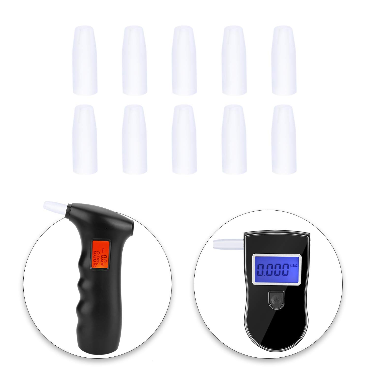 Mouthpieces for Breathalyzer Analyzer Detector,Alcohol Tester Mouthpieces (10 Pack)