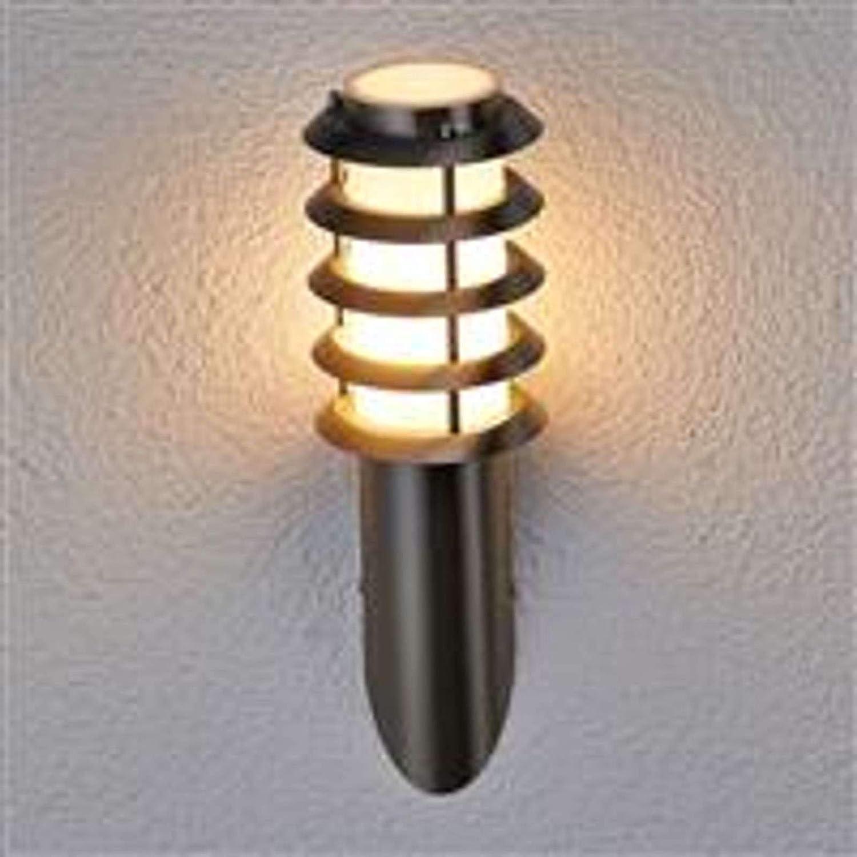 en Gris en Inox Applique Exterieur Inox Selina Luminaire Exterieur Applique Murale Exterieur Lampe Jardin 1 lampe,/à E27, A++ de Lampenwelt Eclairage Exterieur Moderne Applique Exterieur