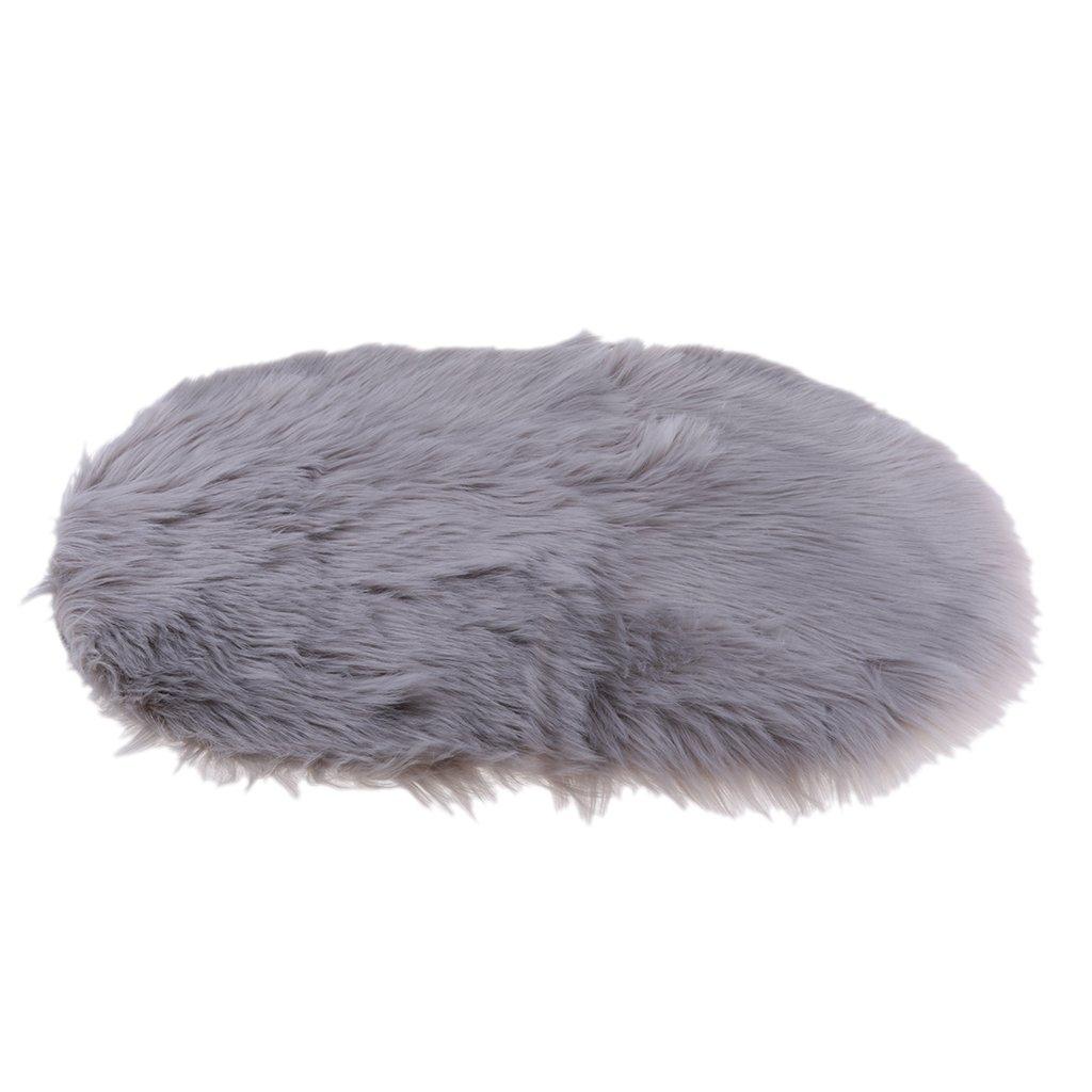 Homyl Faux Sheepskin Rug Baby Nursery Room Play Mat Non Slip Shaggy Rugs Carpet 40x60x6cm - Beige, 40x60cm