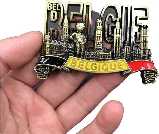 Bella Magneti per Frigorifero/Calamite da Frigo in Metallo Viaggio Souvenir del Modo Belgio Grande Place Manneken PIS Fridge Magnet Sticker Decor Casa
