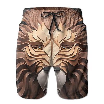 Men's Shorts Swim Beach Trunk Summer Lion Illustration Casual Fashion Shorts With Pockets