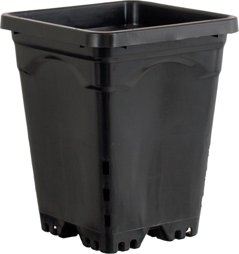 Active Aqua HG7X7SB 7''x7'' Square Pot (Case of 50), 9'', Black