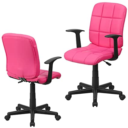 Peachy Amazon Com Colored Desk Chair With Armrests Mid Back Gamerscity Chair Design For Home Gamerscityorg