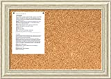 Amanti Art Framed Cork Board Medium, Country White Wash Wood: Outer Size 28 x 20