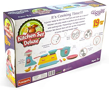 Amazon Com Funskool Kitchen Set The Role Play Kit For Boys And Girls From 3 To 8 Years Toys Games