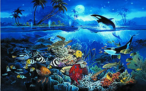 [Tropical Fish High Definition Wall Mural HUGE 12ft 6in Wide x 9ft High Covers an Entire Wall!] (Az Tropical Fish)