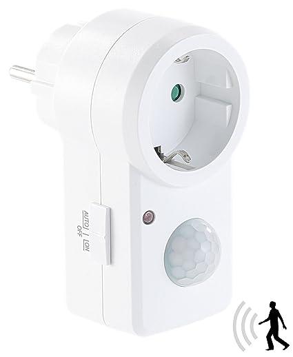 Revolt Conector Detector de movimiento: enchufe con detector de movimiento PIR, 1.200 W Cambio