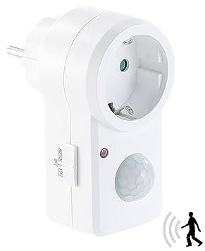 Revolt Conector Detector de movimiento: enchufe con detector de movimiento PIR, 1.200 W Cambio de potencia (Sensor enchufe): Amazon.es: Bricolaje y ...