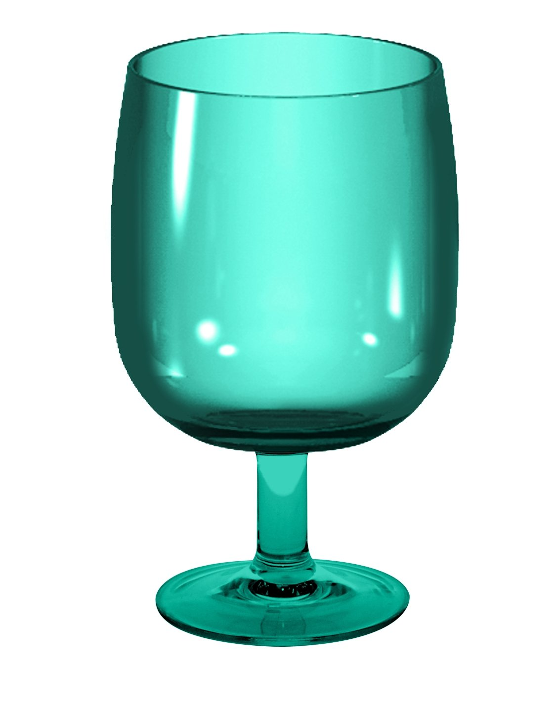 zak! 25 cl Stacky Stem Glass, Aqua Blue