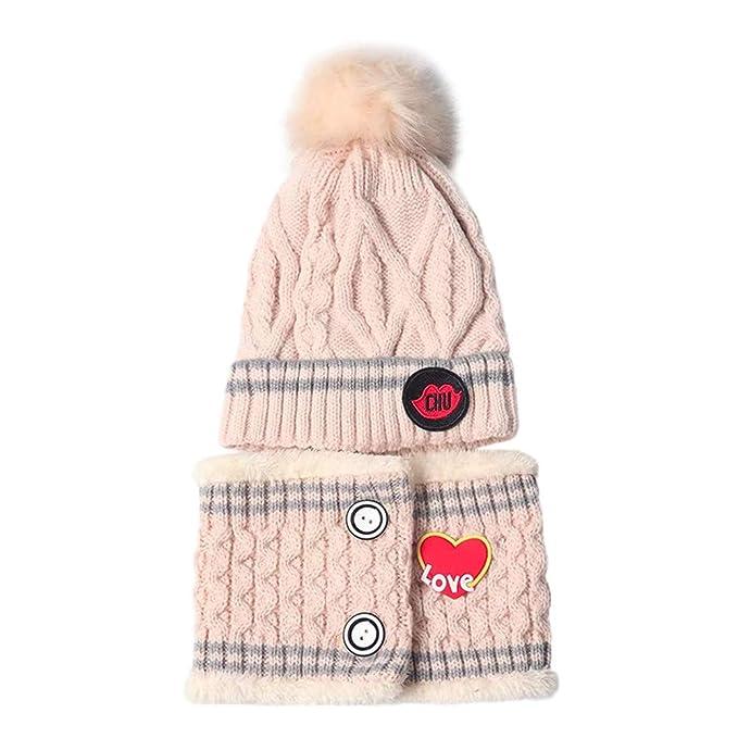 QinMM Berretto da Ragazza Bambino Ragazzi Beanie Sciarpa Invernale Lavorata  a Maglia da Collo Caldi Cappelli per Bambini  Amazon.it  Abbigliamento a02c6c4f39c6