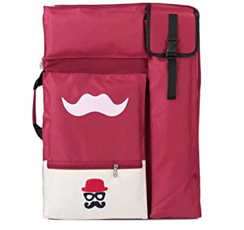 Multifunción bolsas de bocetos, A2/4 K dibujo Junta Art patrones de dibujos animados mochila para portátil bolsa resistente al agua rosso: Amazon.es: Hogar