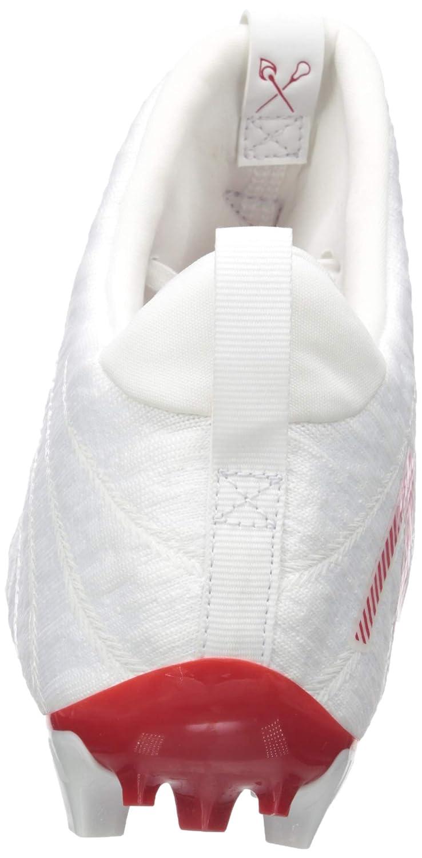 New Balance Mens Burn X2 Mid-Cut Lacrosse Shoe 5 2E US WHITE//RED