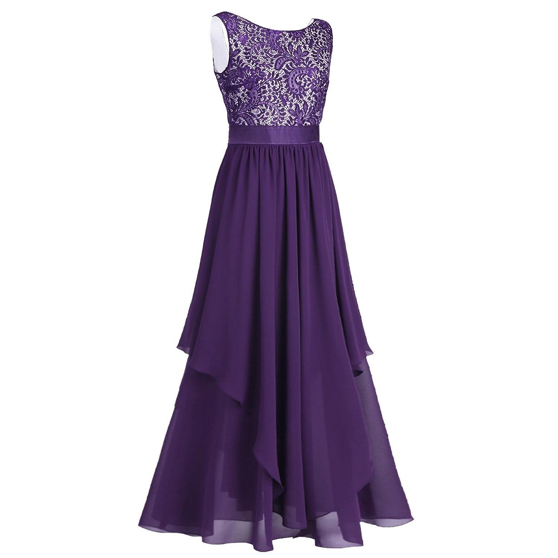 iEFiEL Elegant Damen Kleider festlich Hochzeit Maxi lange Kleider ...