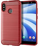 HTC U12 Life Case, Sucnakp TPU Shock Absorption Technology Raised Bezels Protective Case Cover for HTC U12 Life (Red)