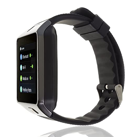 DAM - SMARTWATCH PHONE AK-QW09 CON ANDROID 4,4 3G/WIFI/Android Negro, alarma, reproductor de video, calendario, calculadora, grabación de voz, email, ...