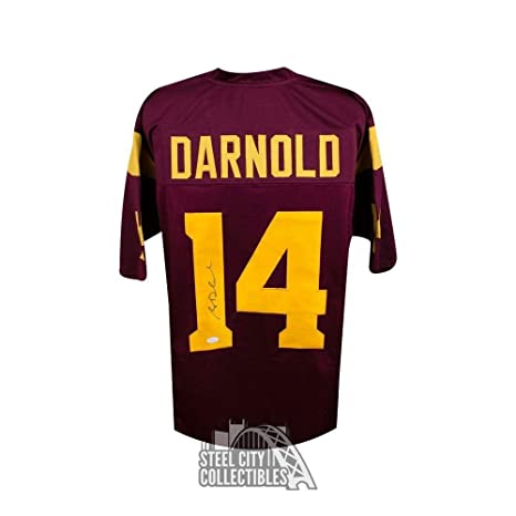 huge selection of 24db9 2e8b5 Autographed Sam Darnold Jersey - Custom Cardinal Football ...