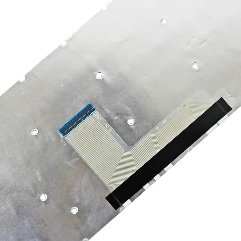 Zahara Laptop US Keyboard No Backlit Frame White Replacement for Toshiba Satellite L55-B5237 L55-B5394 L55-B5192SM L55-B5380WM L55-B5396