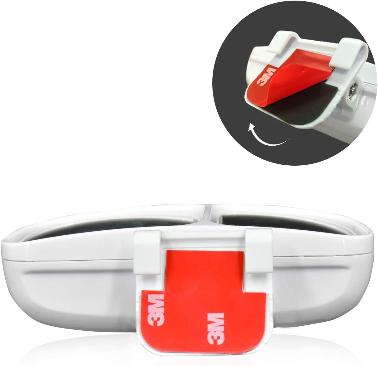 Reversing Mirror Adjustable Wide Angle Rear View Mirror for Universal Cars WEKON Car Blind Spot Mirror White//Left Waterproof HD Glass Auxiliary Mirror