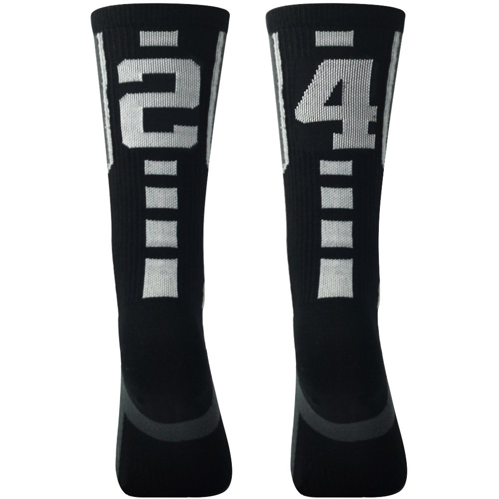 online retailer bdcff 29c41 Soccer Socks, Comifun Adults Teens Athletic Player Custom Team Number ID  Socks Football Socks 1