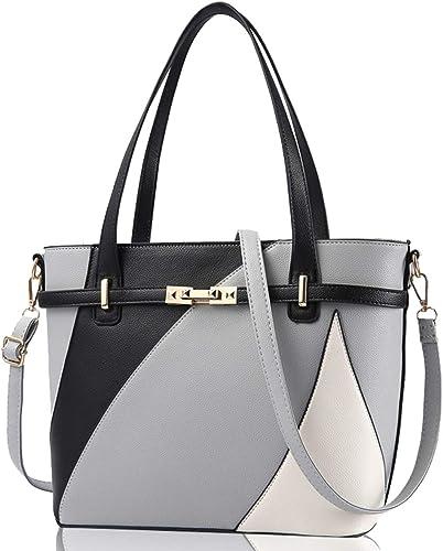 New Womens Chain Trim Design Top-Handle Handbag//Medium Size Tote Shoulder Bag
