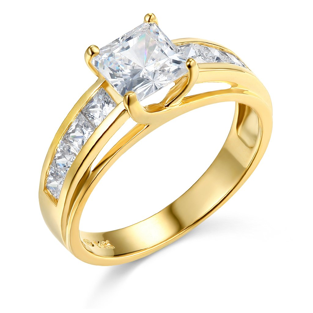 14k Yellow Gold Wedding Engagement Ring - Size 4.5 by GM Wedding Collection
