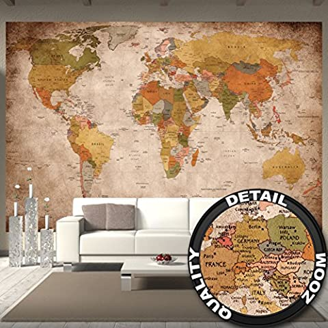 Wallpaper used look – wall picture decoration Globe Continents Atlas