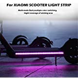 Cocity Night Riding Warning Light Strip for Xiaomi Electric Scooter, Sealed waterproof, Multi-Mode Flash, Multiple Color Switching, Hight Coverage of Wicking Area, Easy to Install, Safer to Ride