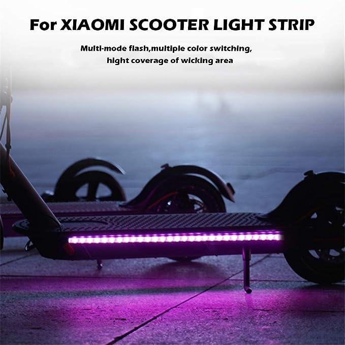 Maayun para Xiaomi Mijia M365 Scooter eléctrico Tira de luz de Tira m365 luz Trasera m365 Linterna m365 luz m365 Tiras Reflectantes