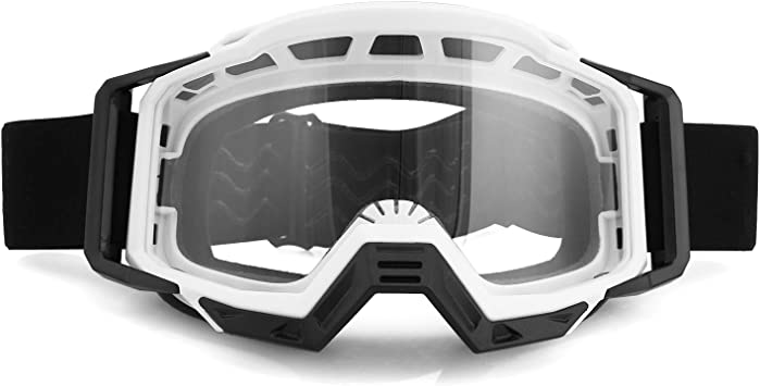 INBIKE Motorcycle Goggles Dirt Bike ATV Motocross Road Racing MX Dust Proof Bendable Eyewear with Three-layer Soft Sponge Adjustable Strap suitable for Motorcycling Skiing Cycling Surfing Multicolor