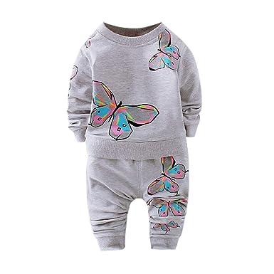 Sudadera con Cuello Redondo de Mangas largas para bebés niña Camisa de Entrenamiento Saco de Dormir