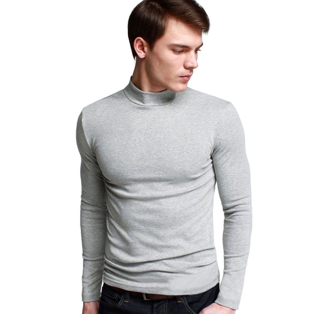 Men's Long Sleeve Turtleneck Undershirt Shirt