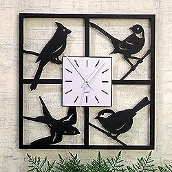 Bits and Pieces - Window Birds Clock - Decorative Hanging Wall Clock - Beautiful Home Décor