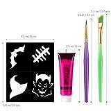 Unomor Halloween Makeup UV Blacklight Face