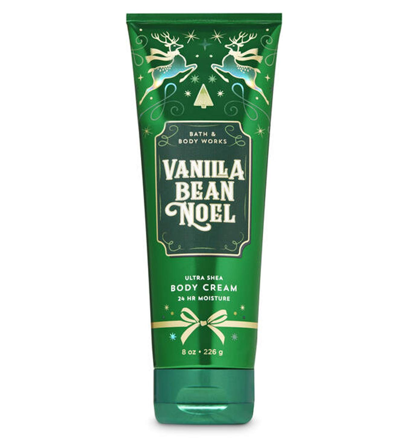 Bath & Body Works Vanilla Bean Noel 2019 Edition Ultra Shea Body Cream 24hr Moisture 8 oz / 226 g : Beauty