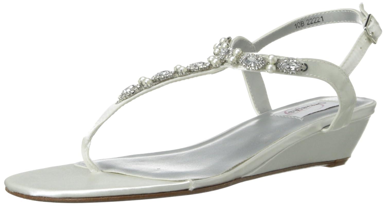 Dyeables Women's Myra Leather Dress Sandal B00FZIATDK 10 B(M) US|White Satin
