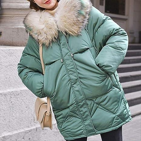 Qxnzy Parker Abrigos De Invierno Para Mujer Tallas Grandes Collar Con Capucha Suelta Espesar Ropa De Abrigo De Doble Bolsillo Calido L Turquesa Amazon Es Deportes Y Aire Libre