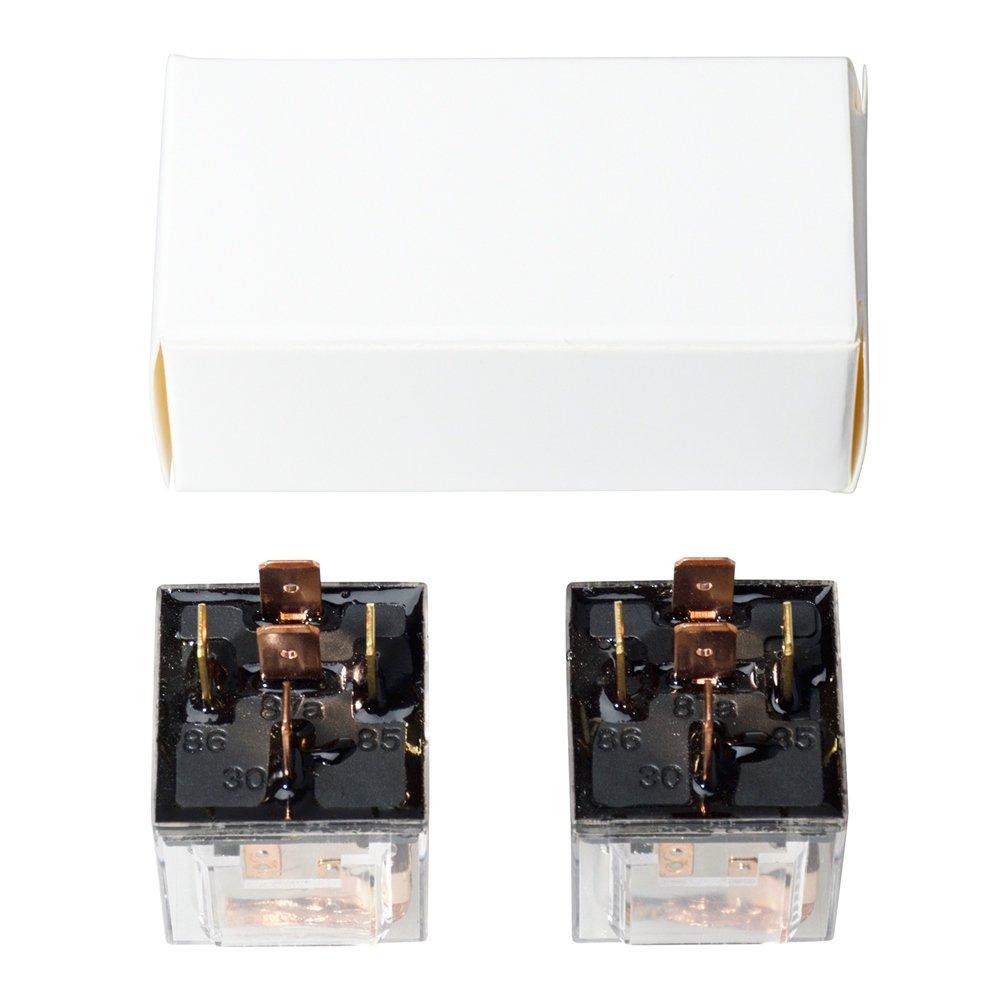 Ehdis DC 24V 60A 1NO SPDT Cargador de 5 Pines Cargador de Carga Pesada Cargador Transparente Estanco Paquete de 5