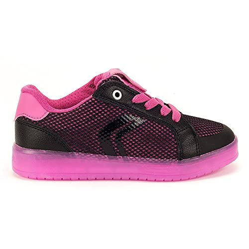 Led Geox Bambina 31 Black Fucsia Luci Kommodor Girl Junior mwn80vN