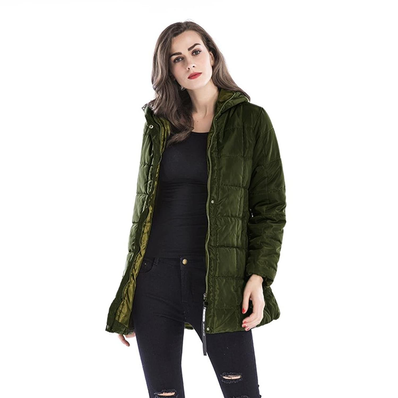 レディース秋冬ジャケットコットンフード付きコート厚手暖かいアウター服、todaiesレディースコート L アーミーグリーン B076Q3XJWFアーミーグリーン L