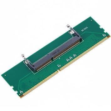 TOOGOO DDR3 Ordenador portatil SO-DIMM a Escritorio DIMM Memoria RAM Adaptador de Conector DDR3 Nuevo Adaptador de Ordenador portatil Memoria Interna a la ...