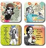 NEW Erin Smith Art 4 piece coaster set