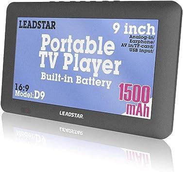 LEADSTAR D9 - Monitor de 9 Pulgadas (16:9, TFT, DVBT2/DVBT, Digital, analógico, portátil, Mini LED, HD TV, 1080P, USB, TF): Amazon.es: Electrónica