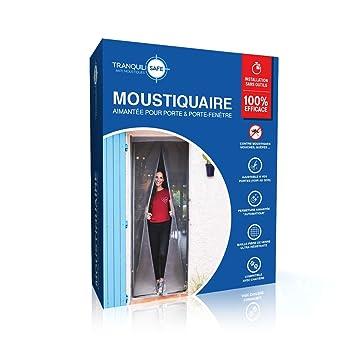 769c6301fc12a Moustiquaire ajustable aimantée TRANQUILISAFE® pour portes et portes  fenêtres – moustiquaire magnétique – moustiquaire baie
