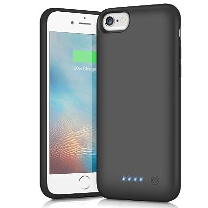 Funda Batería para iPhone 6/6S/7/8, iPosible [6000mAh] Funda Cargador Portatil Batería Externa Ultra Carcasa Batería Recargable Power Bank Case para ...