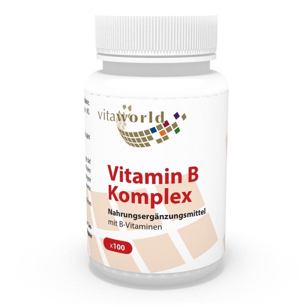 Complejo Vitamínico de Vitamina B 100 Cápsulas Vegetales - Vita World Farmacia: Amazon.es: Salud y cuidado personal