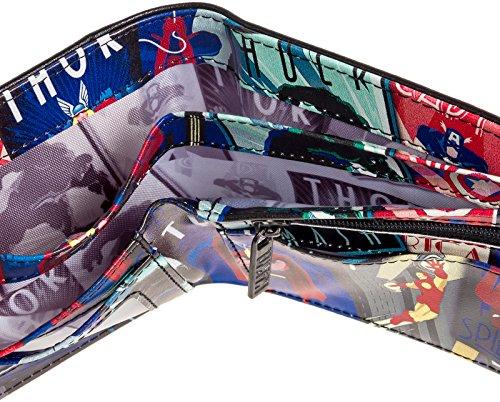 Marvel Comics Men's Retro Interior Print Bifold Wallet (Multi-Color)