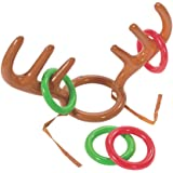 AbeTammy Inflatable Reindeer Antler Ring Toss Game